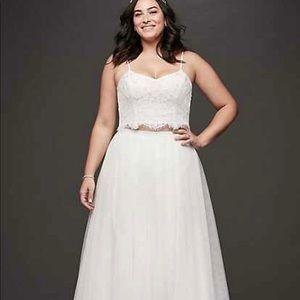David's Bridal Two Piece Dress
